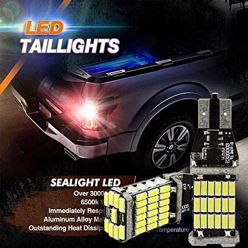 Ambility 2Pcs Car LED Decoding Reversing Lamp Taillight T15 4014 45SMD Brake Light LED Taillights Car Taillight
