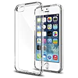 iPhone 5S Case, iPhone SE Case, Spigen [Ultra Hybrid] Air Cushioned Bumper Case with Scratch-Resistant Clear Back Panel for iPhone 5S / 5 - Crystal Clear (SGP10640)