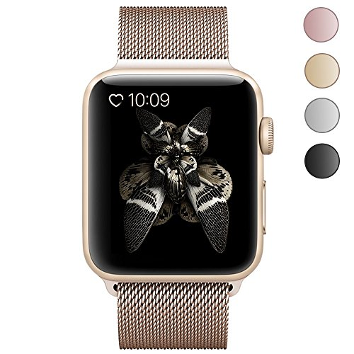 Stainless Steel Mesh Milanese iWatch Band 42mm