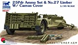 25 35 ammo - Bronco BNCAB3551 1:35 25 Pdr Ammo Set & No.27 Limber w/Canvas Cover MODEL KIT