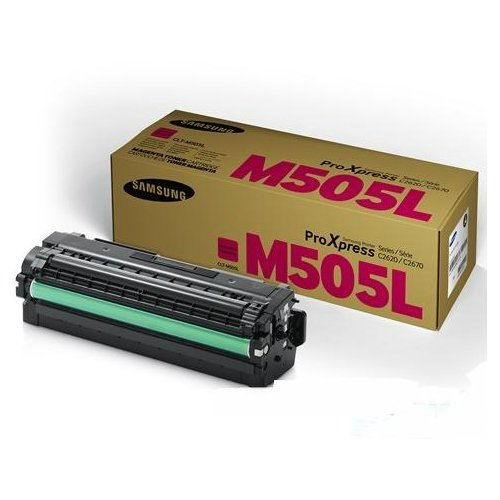 Samsung Genuine Brand Name, OEM CLTM505L Magenta Toner Cartridge (3.5K YLD) for Proxpress C2620DW, C2670FW Printers