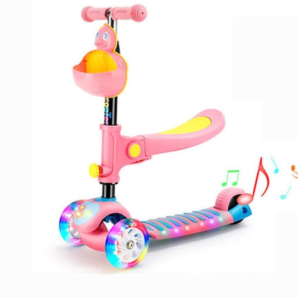 春夏新作 スクーター幼児用スクーター 子供スクーター子供3輪キックスクーター調節可能な高さ初心者スクーター付きリムーバブル&調節可能シート 子供用スクーター (色 (色 ピンク : 青) : B07R4JPH2B ピンク ピンク, DEPOS 2号館:4c7bb089 --- 4x4.lt