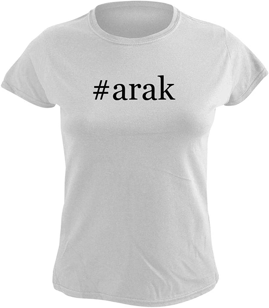 #arak - Women's Hashtag Graphic T-Shirt, White, Large