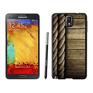 NEW Custom Designed For SamSung Galaxy S4 Case Cover Phone With Rope And Wood Lockscreen Clean_Black Phone