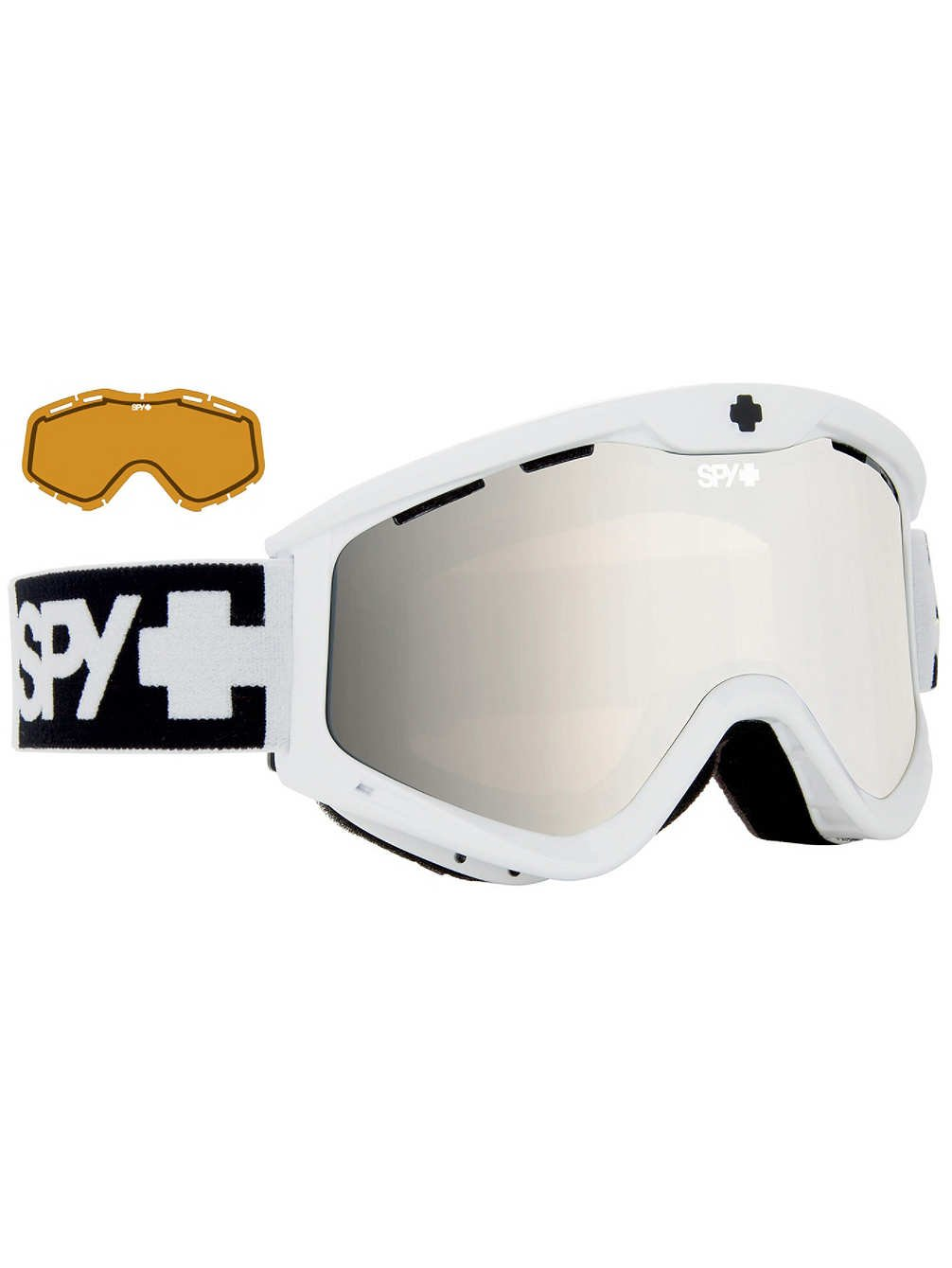 Spy Optic White T3 Winter Sport Racing Snowmobile Goggles, Bronze w/ Silver Mirror + Persimmon, One Size by Spy