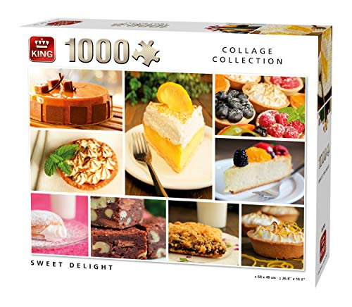 (KING 5765 Collage Sweet Delight Jigsaw Puzzle 1000-Piece, Full Colour, 68x49 cm )