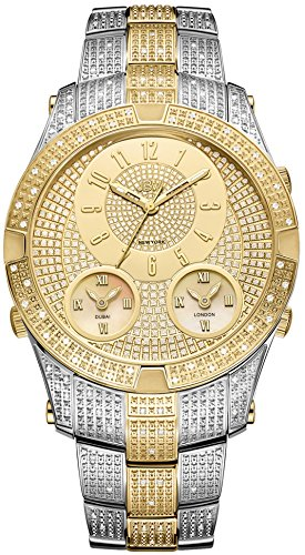 JBW Men's J6348C Jet Setter III 1.50 ctw Stainless Steel Diamond Watch