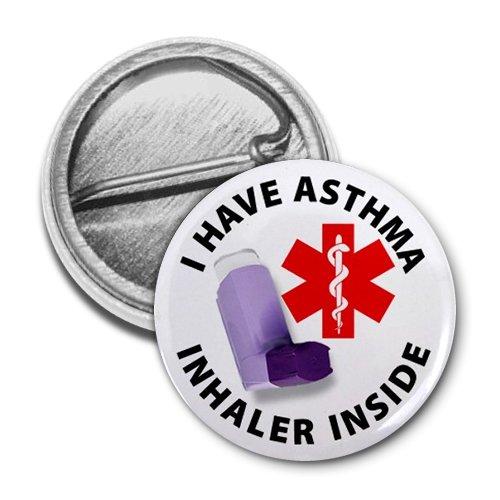 ASTHMA INHALER INSIDE Medical Alert 1 Mini Pinback Button Badge