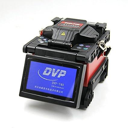 DVP-740 máquina de FTTH fibra óptica empalme fusion Splicer en varios idiomas