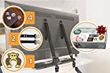 universal anti tip bracket - TV and furniture straps Anti-Tip, baby straps | 2 Safety Metal Anchor straps proof kit | Gift 4 corner furniture protection edge guards, 1 door stopper set - Safety Furniture Straps