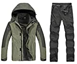 Product review for Sweatwater Men's Waterproof Mountain Hooded Jackets Breathable Pants Set