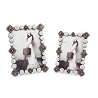 SXELODIE Vintage Creative Pearls Photo Frame-Glass Front,7Inch