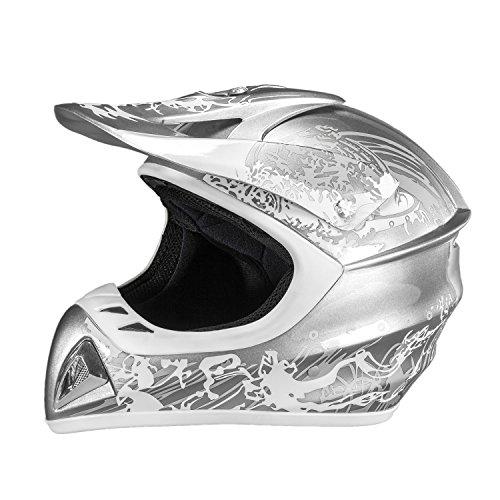 Raider Adrenaline MX Helmet (Grey, (Raider Atv Helmets)