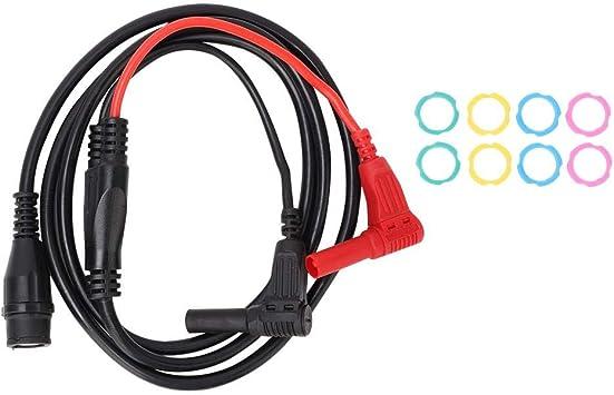 P1207 Cable de prueba de osciloscopio de 100 cm BNC Macho a ángulo recto Cable banana Cable coaxial: Amazon.es: Bricolaje y herramientas