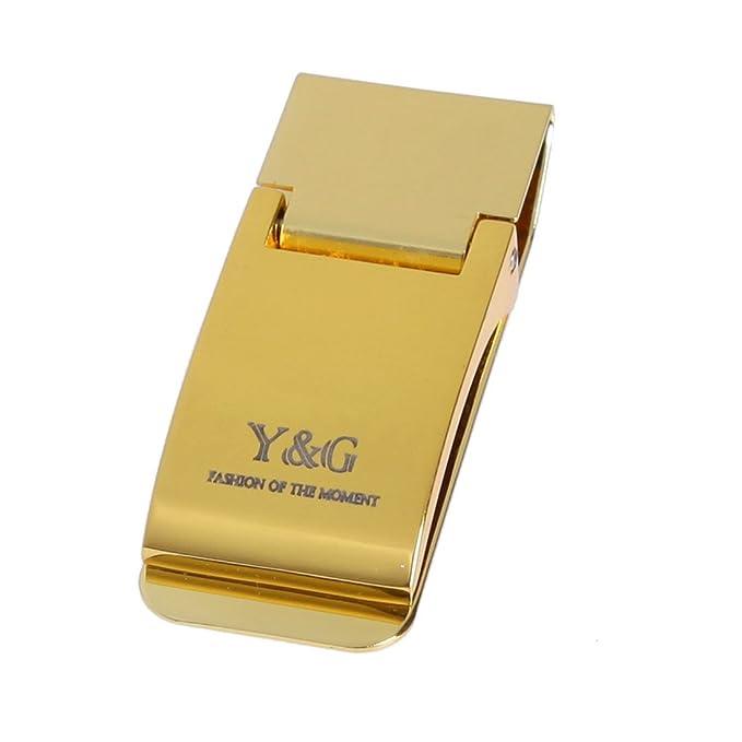 Amazon.com: Y&G - Monedero de acero inoxidable para hombre ...