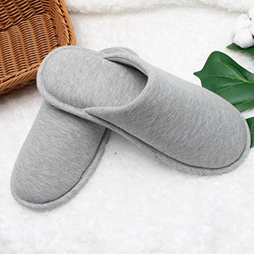 Ofoot Women's Cozy Cotton Thread Cloth House Slippers, Indoor / Outdoor Slip on Shoes by Ofoot (Image #4)