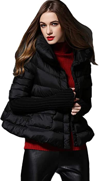 YZ-HOD Down Jacket Womens Coat and Single-Breasted,Lightweight Slim