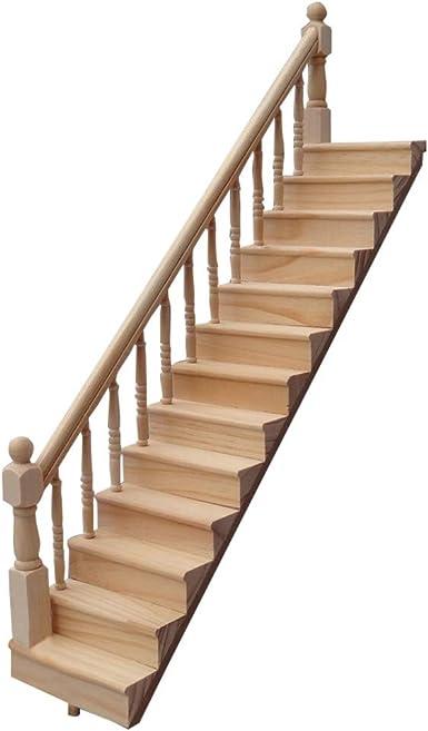 Hink Escalera de Madera Miniatura 1:12 Mini casa de muñecas Escalera Mini Escalera Juguetes y Hobbies Grandes Ventas: Amazon.es: Ropa y accesorios