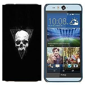 EJOOY---Cubierta de la caja de protección para la piel dura ** HTC Desire Eye M910x ** --Triángulo Geometría cráneo