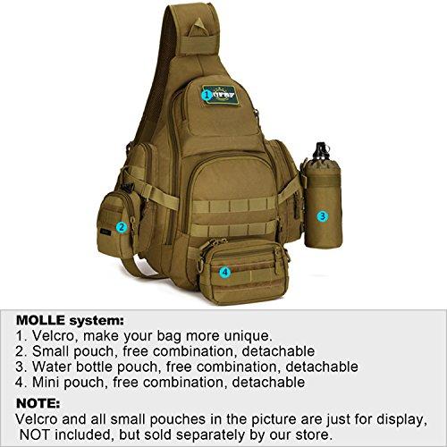 Tactical sling pack backpack military shoulder chest bag for Ap fishing backpack