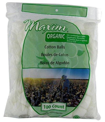 Maxim Hygiene Products Organic Cotton Balls -- 100 Cotton Balls