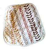 Barnes Blinds and Interiors Set of 6 - Cream & Terracotta Abstract Padded Placemats