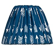 Camp River Rock Navy Blue Arrow Lamp Shade by Glenna Jean