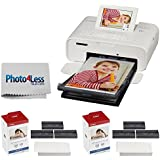 Canon SELPHY CP1300 Compact Photo Printer (White) + 2x Canon KP-108IN Color Ink and Paper Set + Photo4Less Cleaning Cloth – Complete Printing Bundle