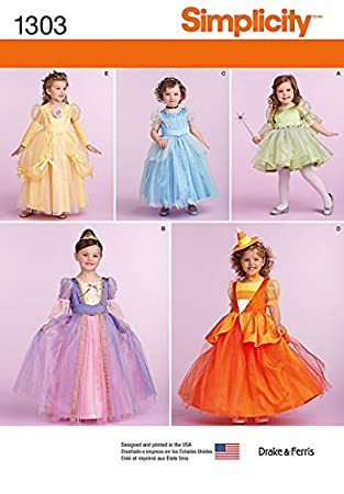 Simplicity Kinder Schnittmuster 1303 Prinzessin Stil Kleider: Drake ...
