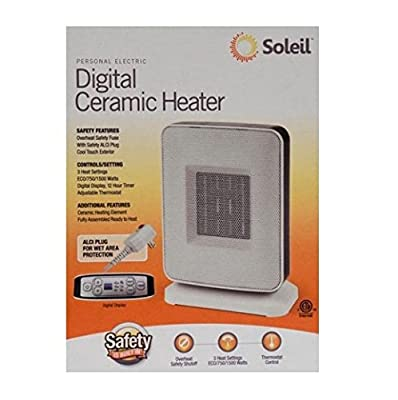 Soleil PTC-910B Sole Digital Ceramic Heater