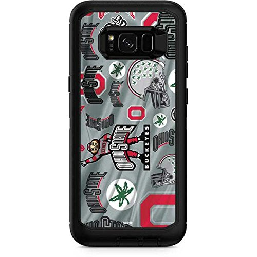 Skinit Ohio State Pattern OtterBox Defender Galaxy S8 Plus Skin for CASE - Officially Licensed Ohio State University Skin for Popular Cases Decal - Ultra Thin, Lightweight Vinyl Decal Protection