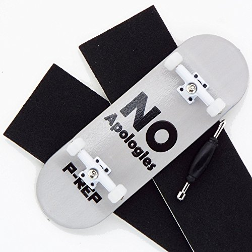 UPC 799975071459, P-Rep No Apologies 32mm Graphic Complete Wooden Fingerboard w CNC Lathed Bearing Wheels