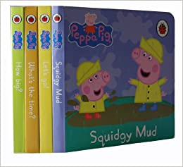 Peppa Pig Collection 4 Board Books Set Pack Rrp 15 96 Squidgy Mud