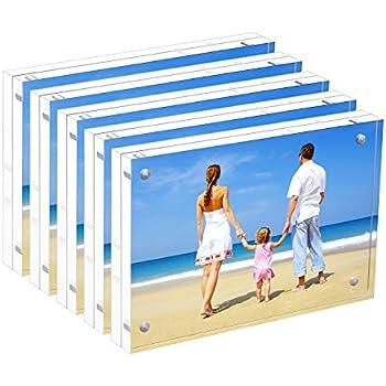 Amazon.com - Bulk Acrylic Picture Frames 4x6, Clear Double Sided ...