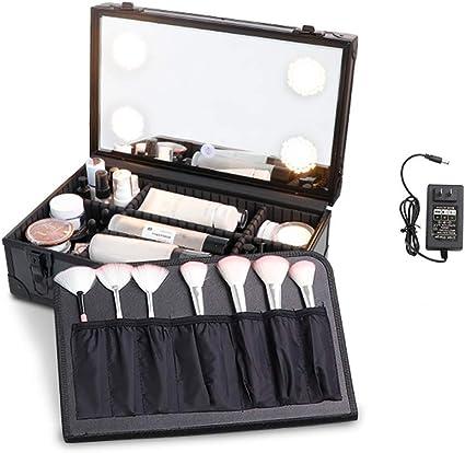 Estuche De Maquillaje Bolsa De Cosméticos De Viaje Estuches Organizadores Maquillaje Potable Salón Belleza Peluquería Caja Almacenamiento Vanidad Cierre Artistas Profesionales Estudio Viaje: Amazon.es: Belleza