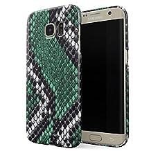 BURGA Samsung Galaxy S6 Edge Case, Emerald Cobra Savage Green Snake Skin Thin Design Durable Hard Shell Plastic Protective Case For Samsung Galaxy S6 Edge