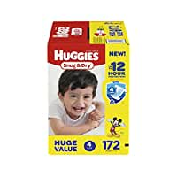 HUGGIES Snug & Dry Diapers, Size 4, 172 Count (Packaging May Vary)