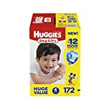 Health & Personal Care : HUGGIES Snug & Dry Diapers, Size 4, 172 Count (Packaging May Vary)