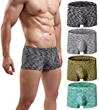 MAKEIIT Boxers for Men Low-Rise Boxer Briefs Good Underwear for Men Mens Bikini Underwear Mid Underwear