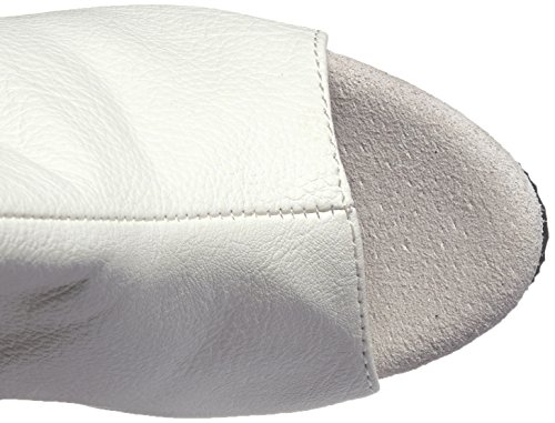 White Women's Faux Leather Wpu m Boot White Pleaser Del3019 FxwqF1