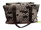 Vera Bradley Triple Compartment Travel Bag, Blanco Bouquet