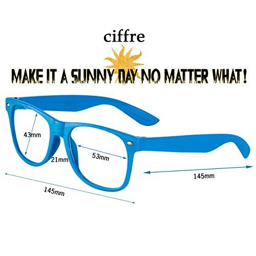 aviateur Klar Nerd style disponibles soleil coloris style env lunettes clear wayfarer lunettes KG4 de Glas différents de paire et modèles vintage Blau 80 style 1C4q1wxrv