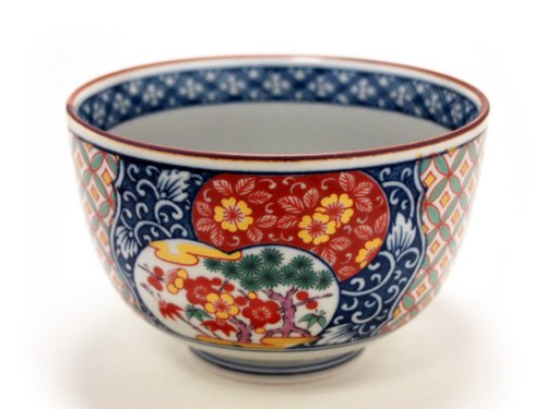 OLD-IMARI-SYOUCHIKUBAI Jiki Japanese Porcelain Small Bowl for UDON,SOBA,TERIYAKI-BOWL made in JAPAN