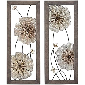 Amazon.com: Deco 79 Metal Wall Decor, 2 Assorted, 16 by 40 ...