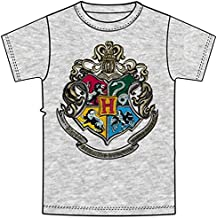 Jerry Leigh, Disney Harry Potter Adult Unisex T Shirt Harry Potter Hogwarts Crest, Gray