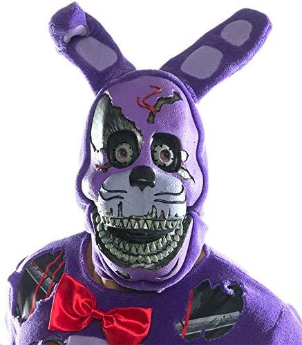 Rubie's Costume Co Men's Five Nights At Freddy's Nightmare Bonnie 3/4 Mask, As Shown, One -