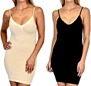 Patricia Women's Seamless Shapewear Tight Full Slip for Underdress (S-