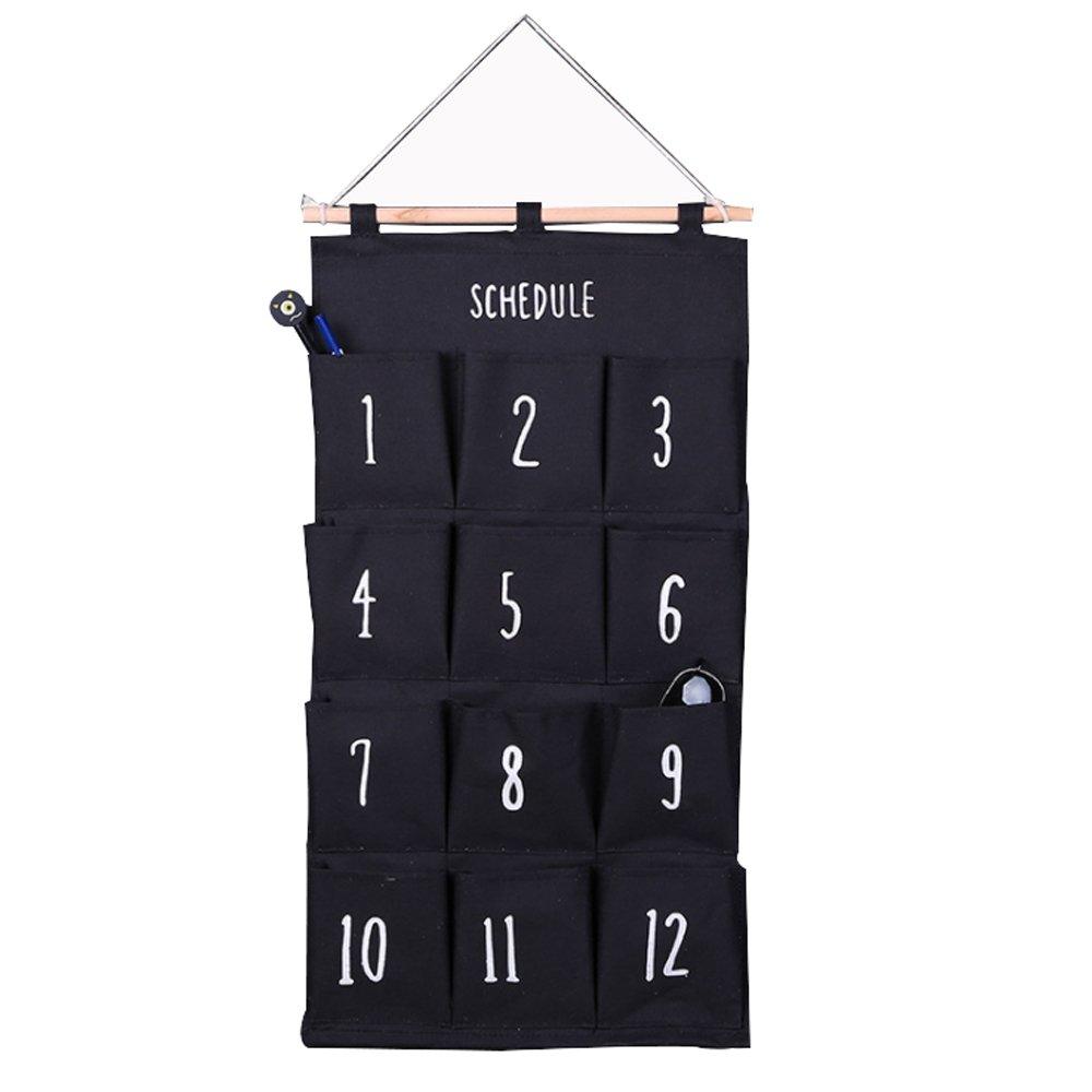 Tasche portaoggetti da parete, portaoggetti da appendere parete, 12 Tasche zhouzhouji