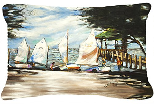 picture of Sailing Lessons Sailboats Canvas Fabric Decorative Pillow JMK1077PW1216