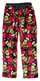 How The Grinch Stole Christmas Don't Be A Grinch Red Plaid Fleece Sleep Pants - Medium